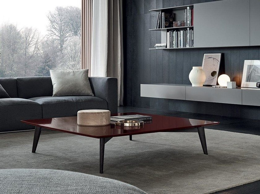 Lacquered coffee table for living room BIGGER | Lacquered coffee table by poliform