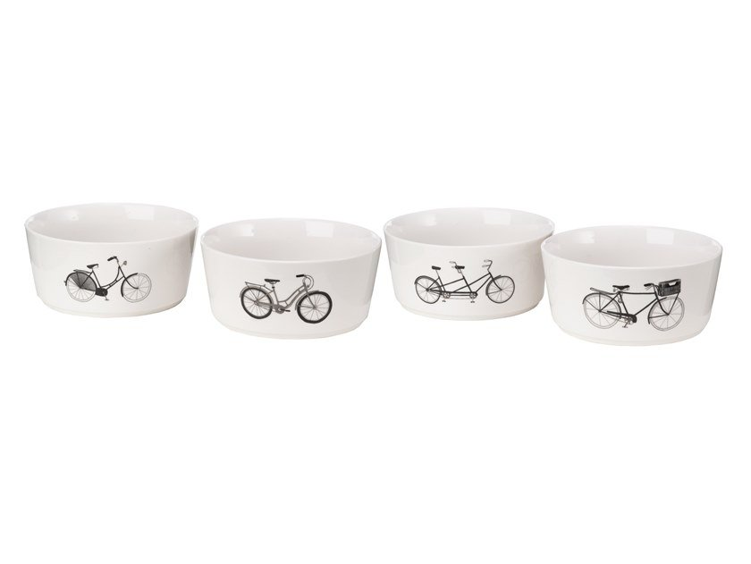 Porcelain serving bowls set BIKES   Serving bowls set by Pols Potten