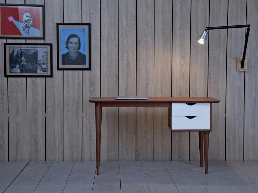 Rosewood writing desk with drawers BIKO ROSEWOOD by Kann Design