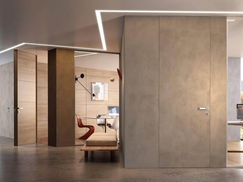 Hinged flush-fitting door with concealed hinges BILATO by GAROFOLI