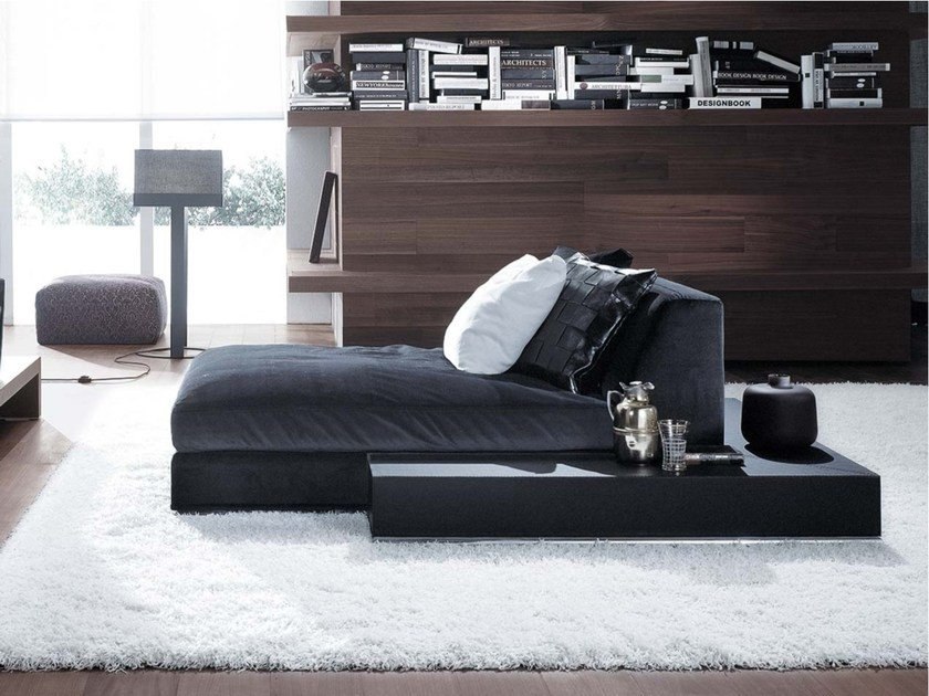 Upholstered fabric day bed BILBAO | Day bed by Frigerio Salotti