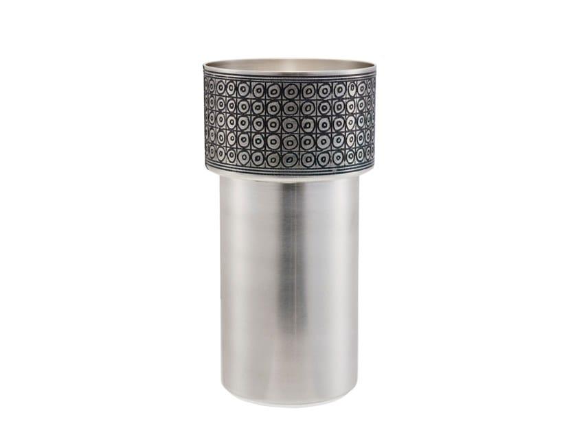 Silver vase BILBAT by ZANETTO