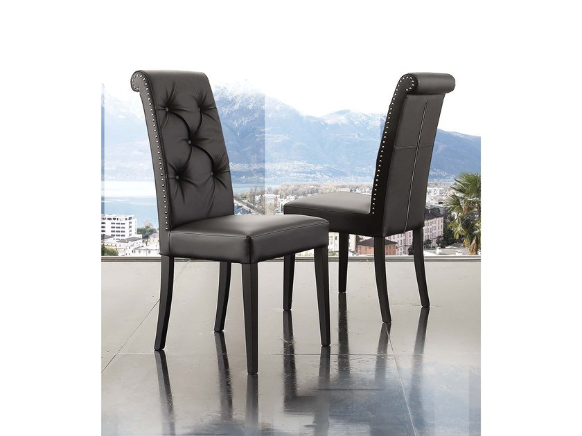 Upholstered Eco-leather chair BILLIONAIRE COOL by La seggiola