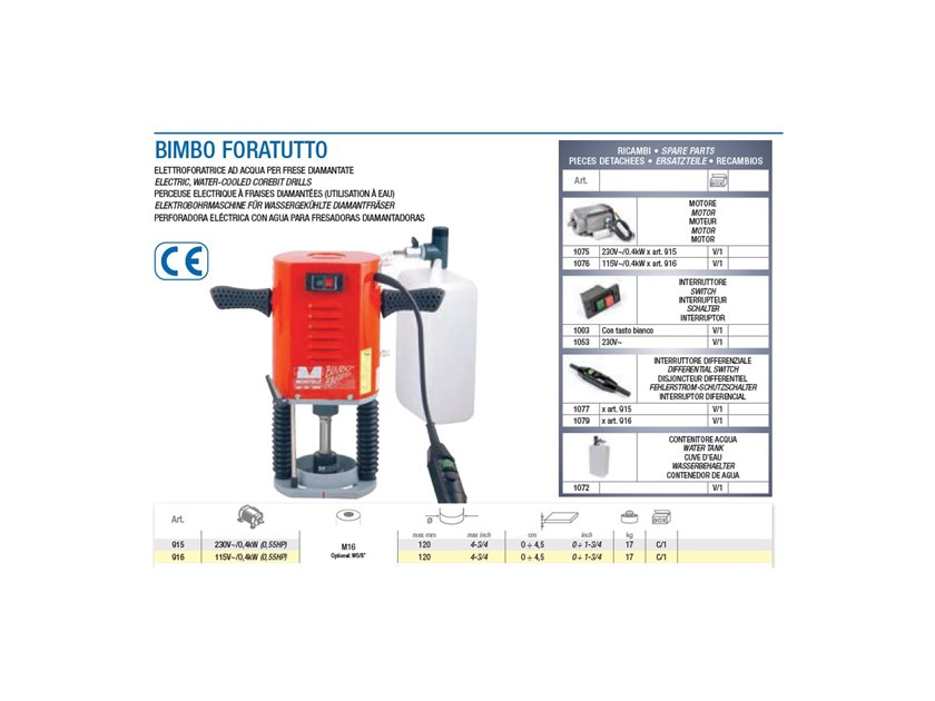 Special machinery for construction sites BIMBO FORATUTTO by BREVETTI MONTOLIT