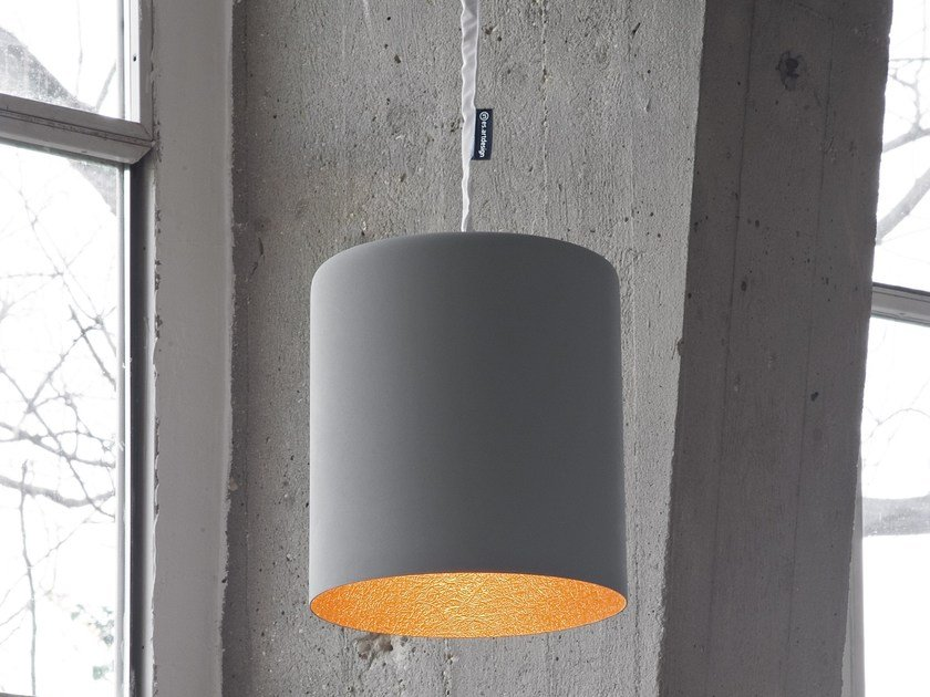 Resin pendant lamp BIN CEMENTO by In-es.artdesign