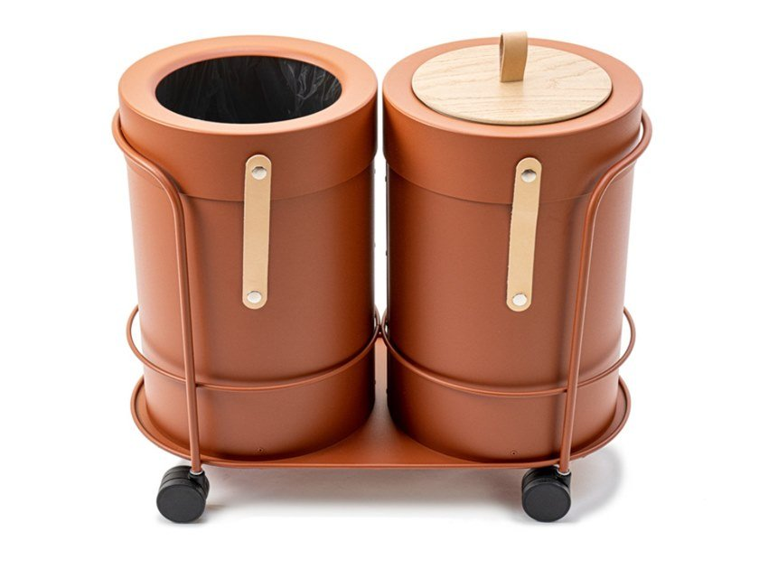 Metal litter bin / Planter BIN THERE S by Mizetto