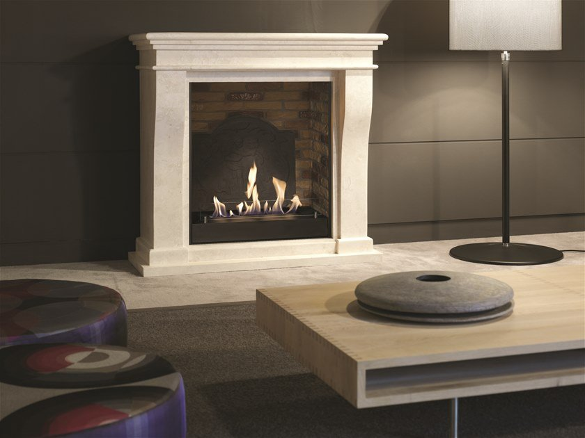 Bioethanol wall-mounted vent free metal fireplace BIO KRETA MINI SUITE by BRITISH FIRES