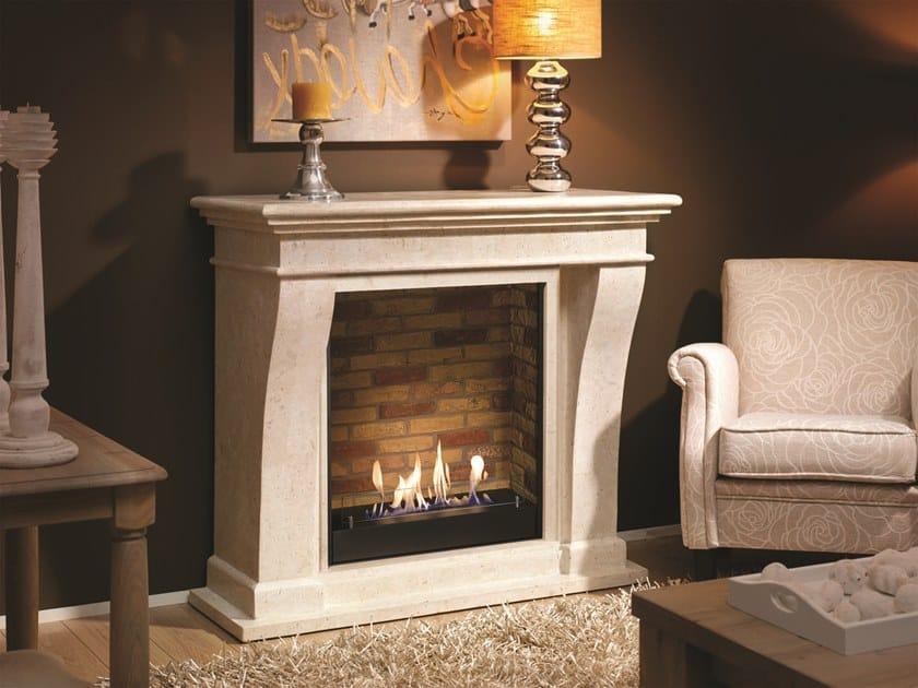 Bioethanol wall-mounted vent free metal fireplace BIO KRETA SUITE by BRITISH FIRES