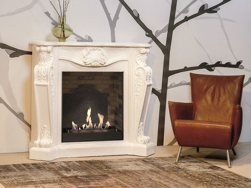 Louis XIV bioethanol wall-mounted vent free metal fireplace BIO LOUIS XIV SUITE by BRITISH FIRES