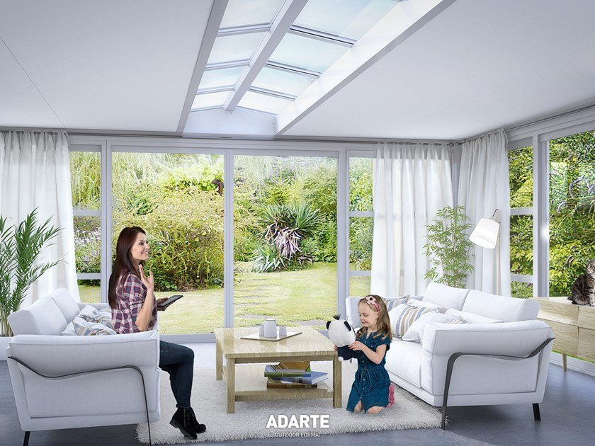 Thermal-break Aluminium Veranda with XPS insulation roof A303 FIX by ADARTE
