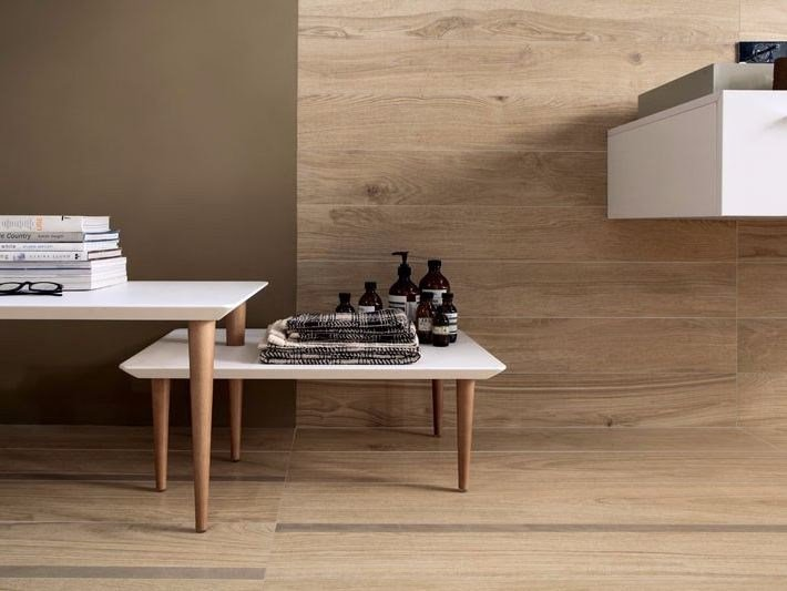 Antibacterial wall/floor tiles with wood effect BIO TIMBER by LEA CERAMICHE