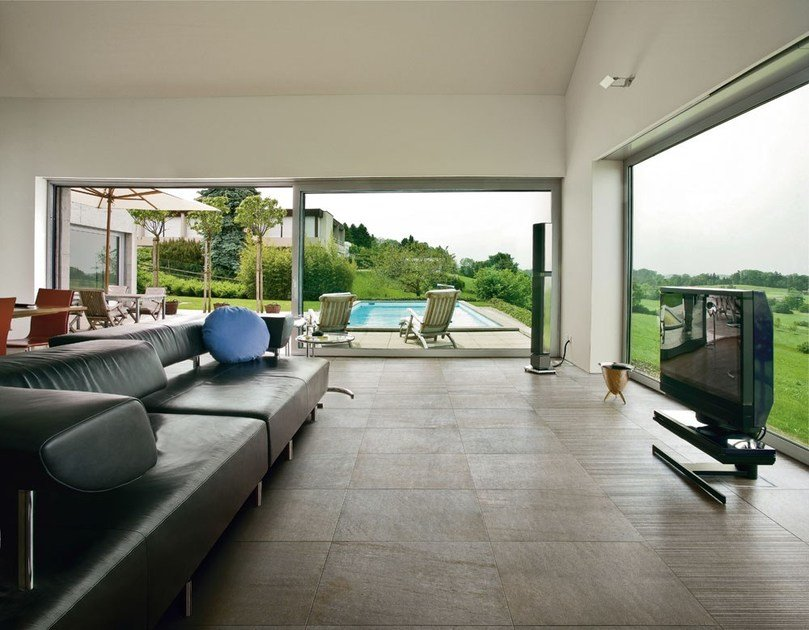 Porcelain stoneware flooring with stone effect BIOARCH by Panaria Ceramica