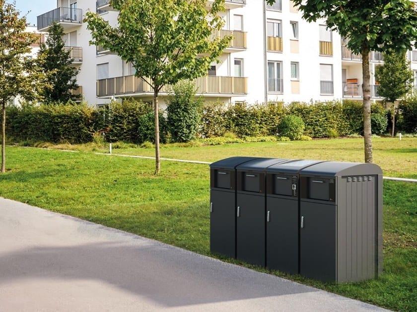 Outdoor litter bin BIOX 4.0 by MATTIUSSI ECOLOGIA