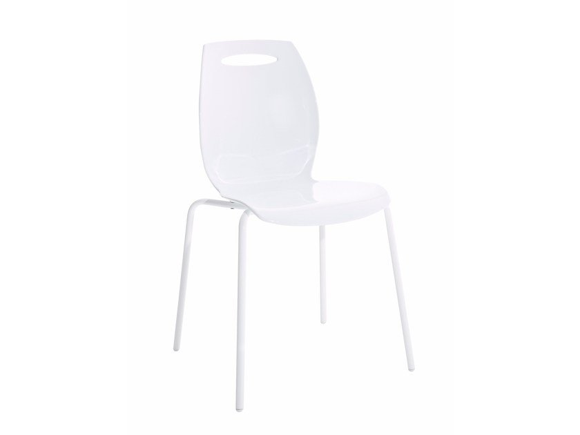 Stackable technopolymer chair BIP by Colico