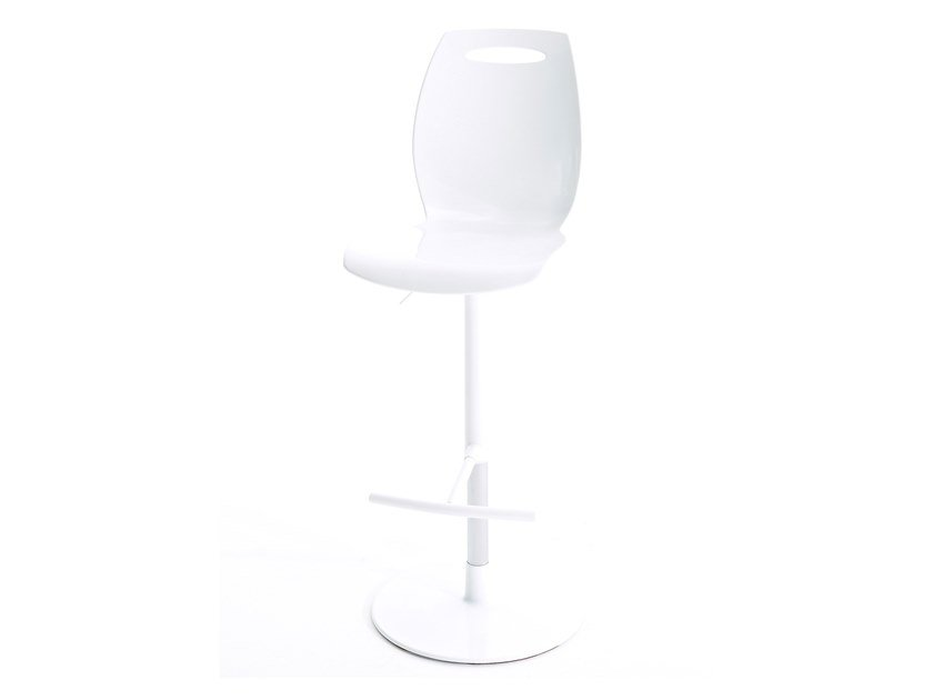 Swivel height-adjustable stool with footrest BIP.SS by Colico