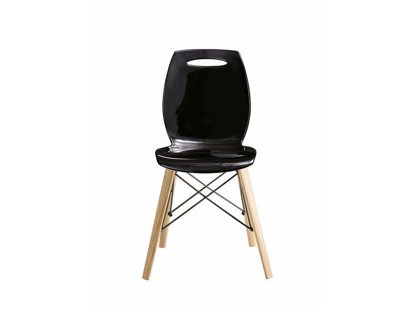 Stackable technopolymer chair BIP WOOD by Colico