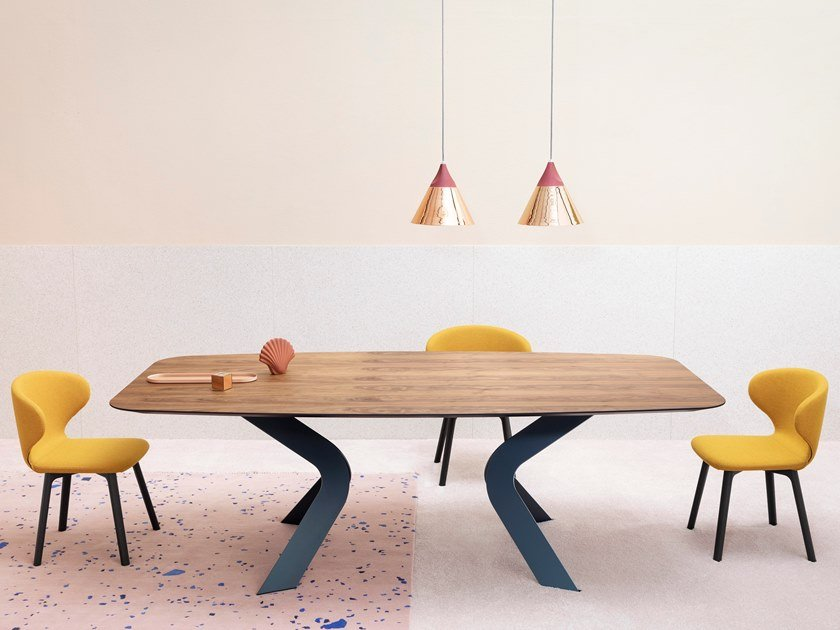 Rectangular dining table BIPEDE by Miniforms