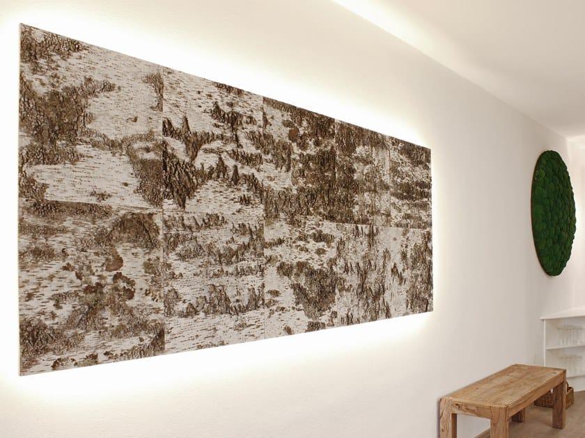 Birch tree bark wall tiles BIRCH BARK WALL PANELS by Freund GmbH