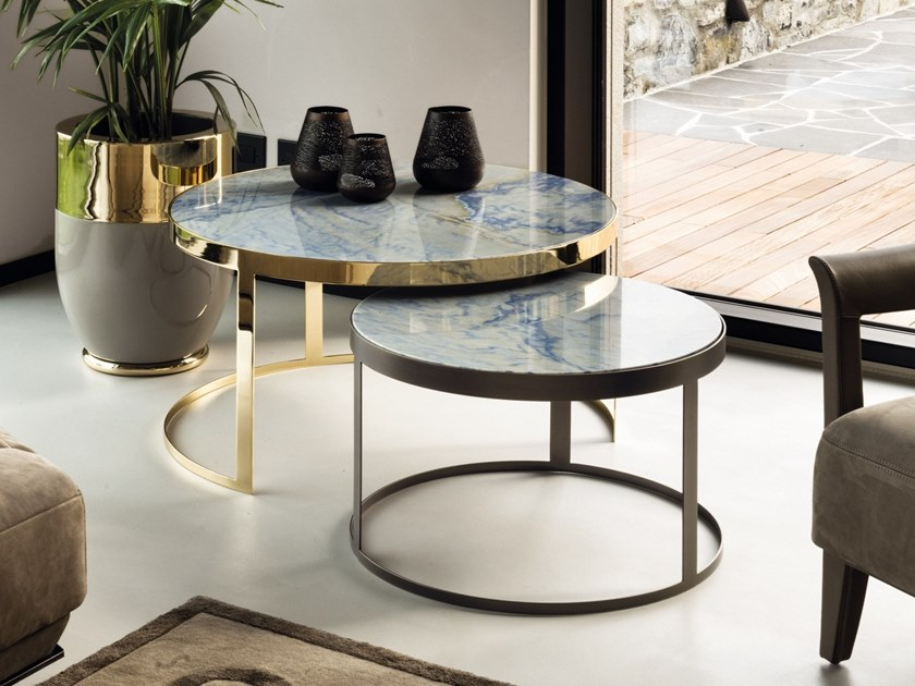 Stackable round coffee table BIS by Longhi