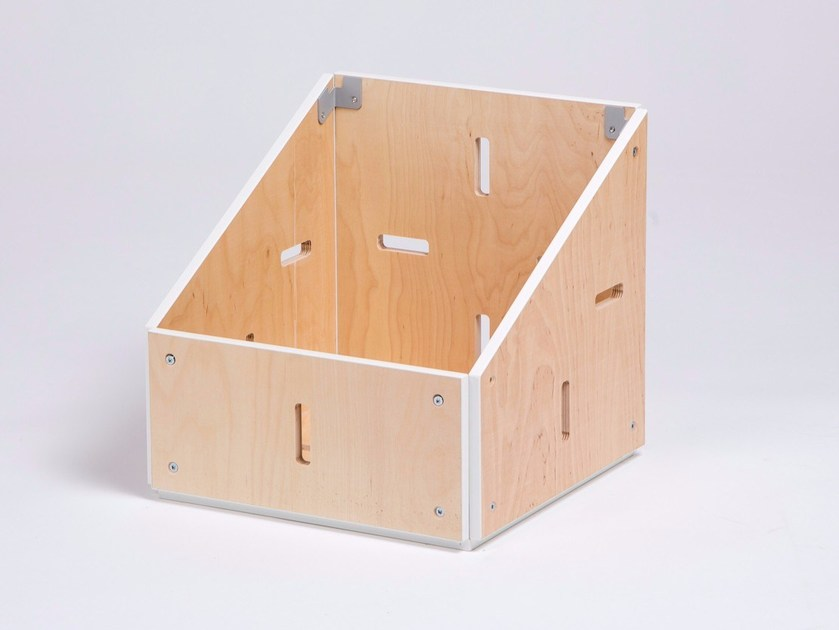 Plywood desk tray organizer BISEAU  OUVERT by ENEIXIA