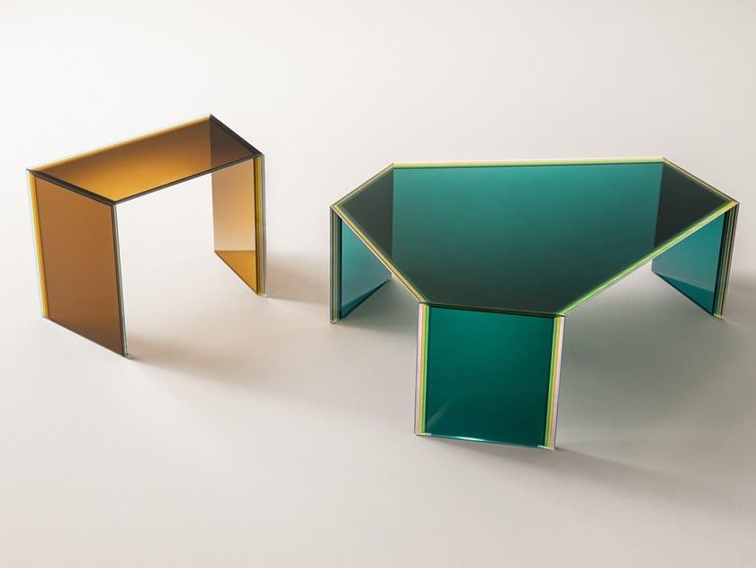 Couchtisch aus Kristall BISEL | Couchtisch by Glas Italia