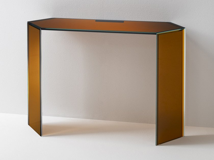 Crystal console table BISEL | Console table by Glas Italia