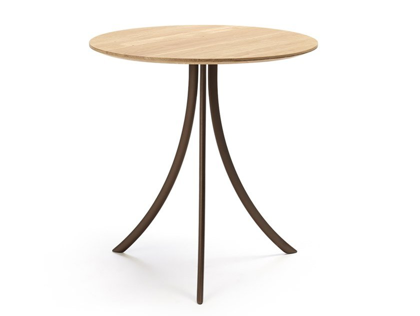 Round oak table BISTRO | Oak table by EXPORMIM