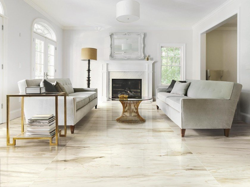Porcelain stoneware flooring with marble effect BISTROT | Flooring by Ragno