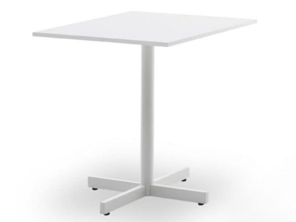 Tavolo rettangolare in acciaio e legno BISTROT art TAV 60001 by GES Group
