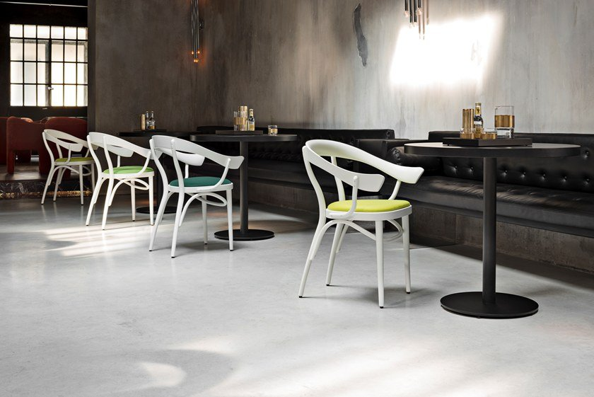 Wiener Da Pranzo Bistrotstuhl Legno Poltroncina Con In Gtv Braccioli Design 4ARLj35