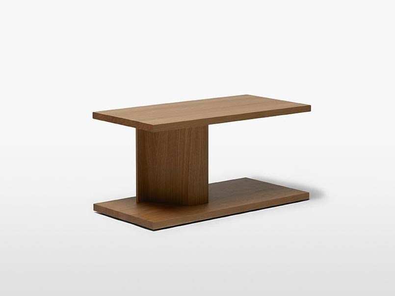 Side table in solid and laminated oak BIT by Massproductions