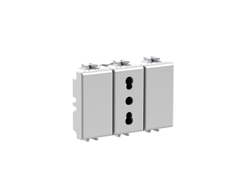 Plastic electrical outlet BITAPPO 4B.AM.BT by 4 BOX