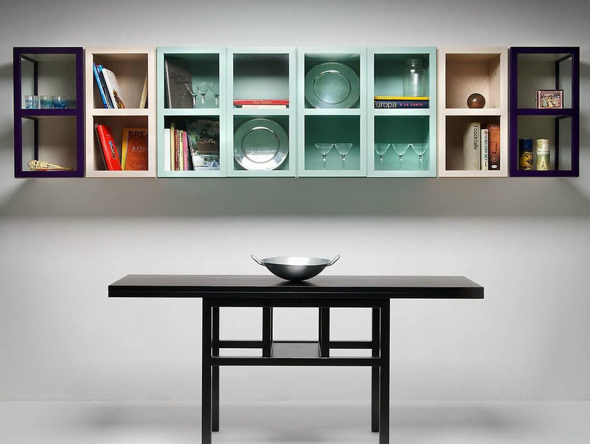 Extending lacquered rectangular ash table BITAVOLO by IFT