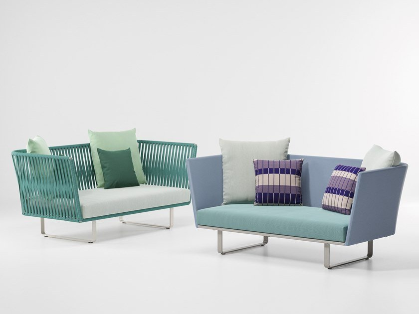 2 seater fabric garden sofa BITTA | 2 seater garden sofa by Kettal