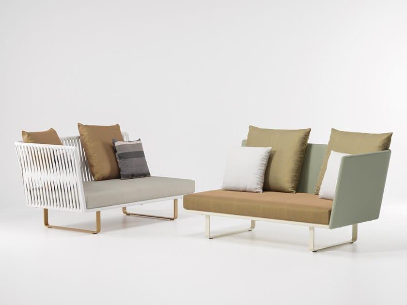 2 seater modular fabric garden sofa BITTA | 2 seater garden sofa by Kettal
