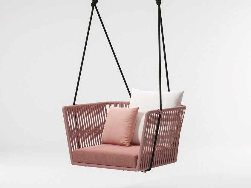 1 Seater rope garden hanging chair BITTA | Garden hanging chair by KETTAL