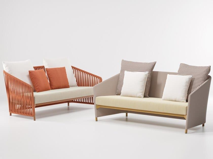 2 seater upholstered fabric garden sofa BITTA LOUNGE | 2 seater garden sofa by KETTAL
