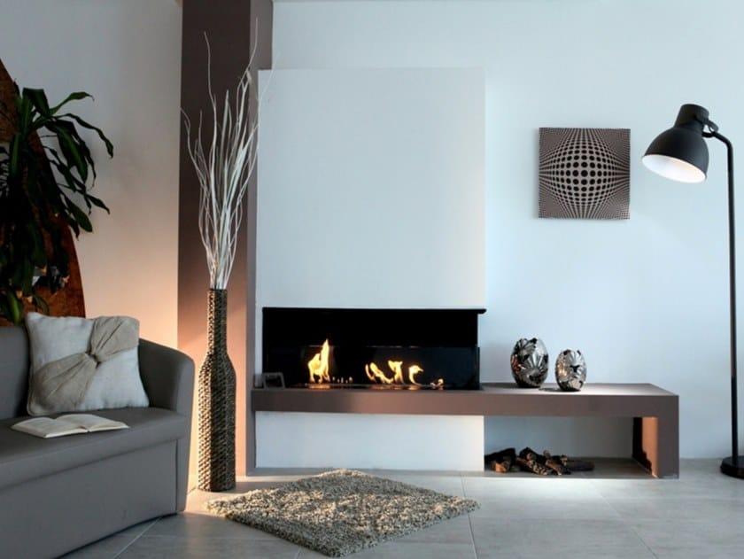 Corner built-in bioethanol fireplace BKBF-A by bioKamino