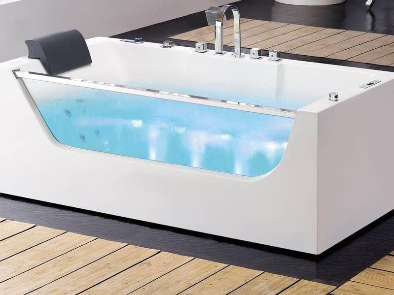 Whirlpool rectangular bathtub BL-531 | Whirlpool bathtub by Beauty Luxury