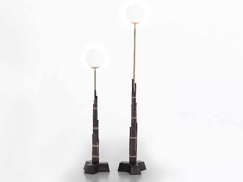 Bamboo floor lamp BLACK 92/93 by Gervasoni