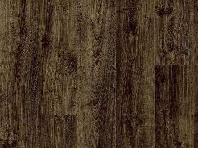 Synthetic material flooring with wood effect BLACK CITY OAK by Pergo