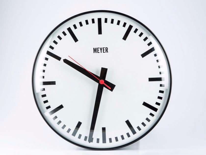 Wall-mounted plate clock BLACK CLASSIC by Meyer Objects