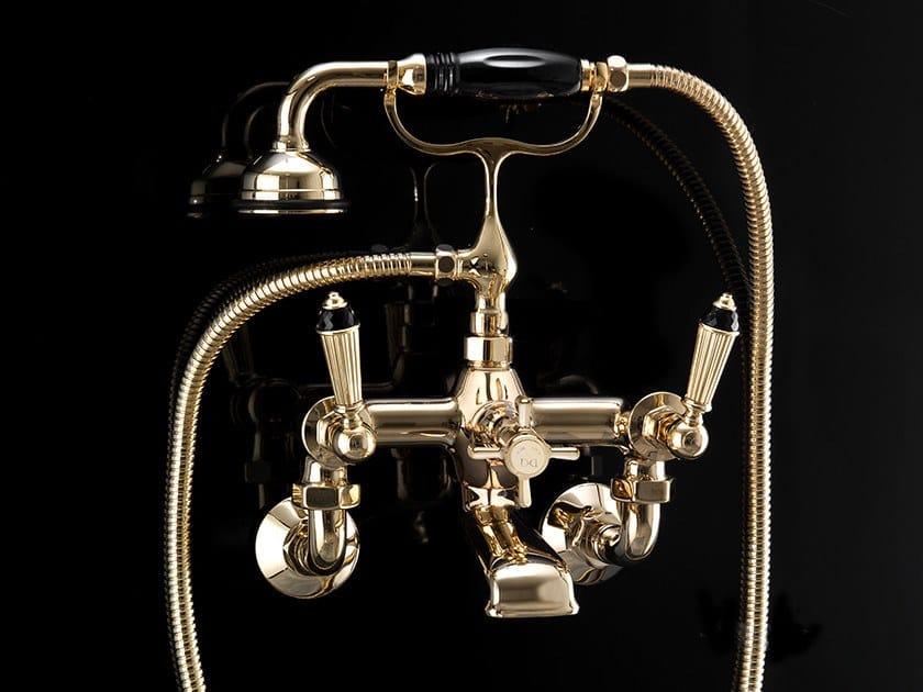3 hole wall-mounted bathtub mixer BLACK DIAMOND | Wall-mounted bathtub mixer by Devon&Devon