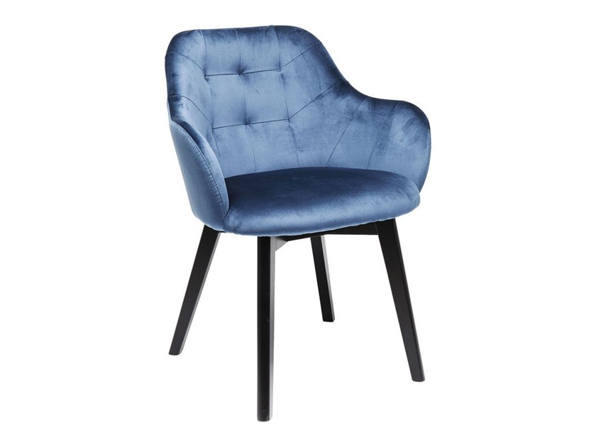 Fabric chair with armrests LADY VELVET | Chair by KARE-DESIGN