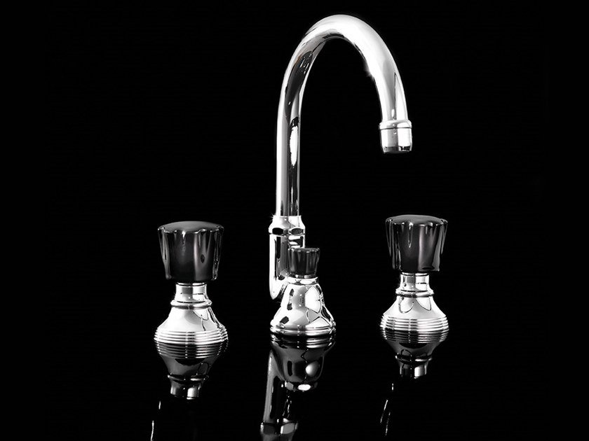 3 hole countertop washbasin mixer BLACK MORRIS | Countertop washbasin mixer by Devon&Devon