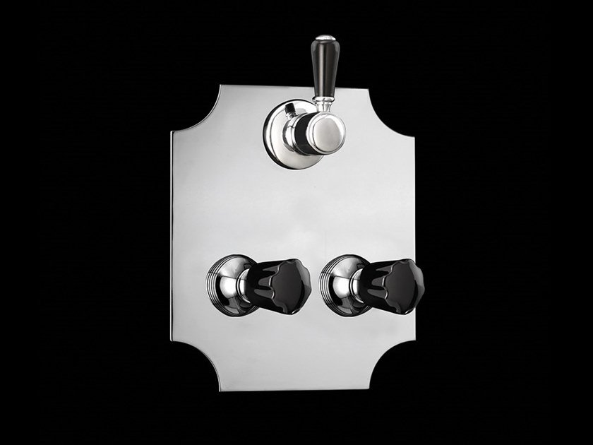 Shower set with diverter BLACK MORRIS | Shower set with diverter by Devon&Devon
