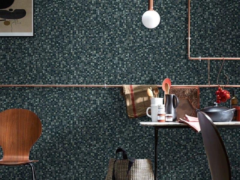 Nonwoven wallpaper BLACK MOSAIC | Wallpaper by Koziel