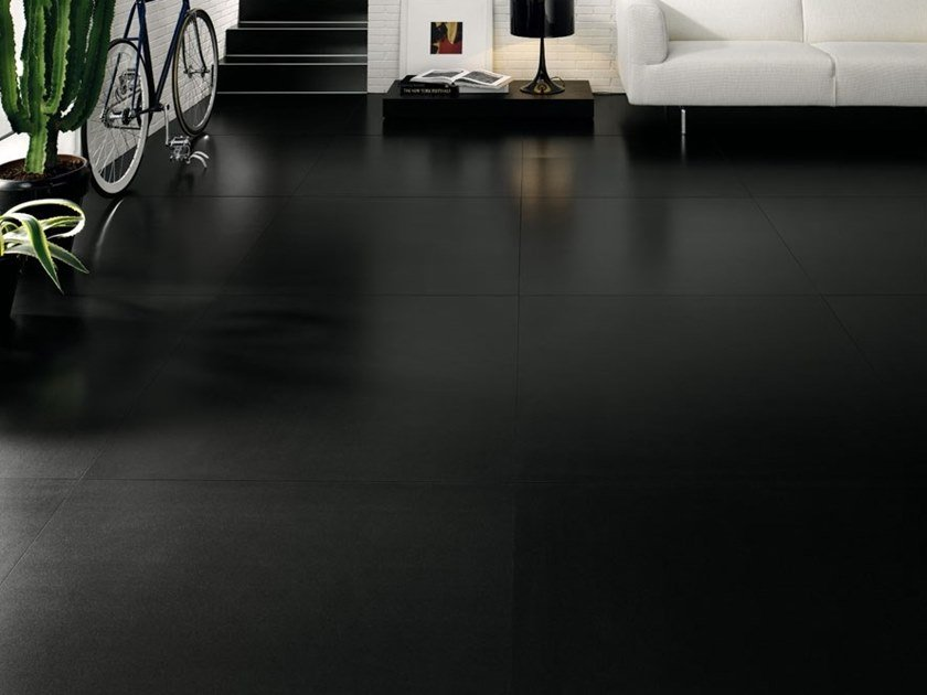 Ultra thin laminated stoneware wall/floor tiles BLACK-WHITE - BLACK by COTTO D'ESTE