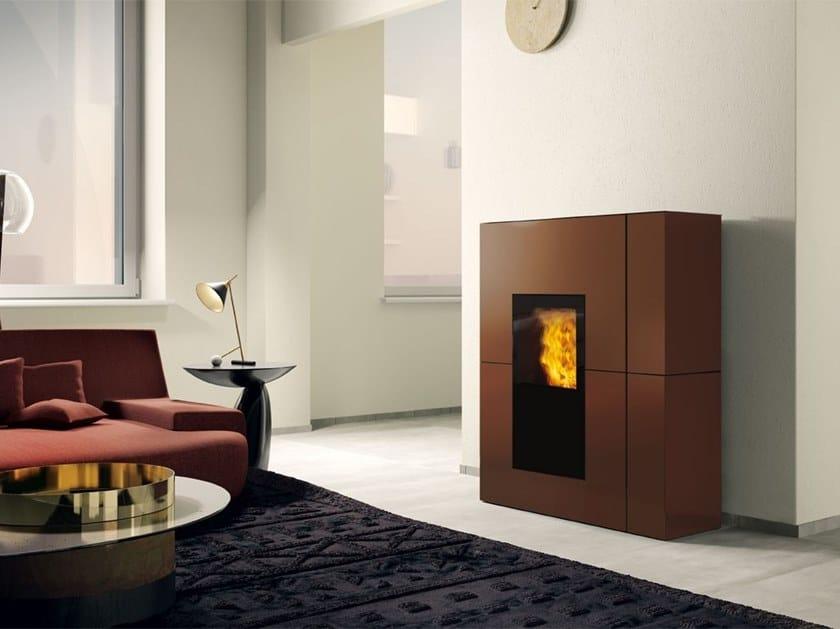 Pellet steel Heating stove BLADE H / BLADE H EKLEANER | Steel Heating stove by EDILKAMIN