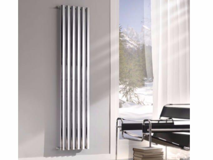 Termoarredo cromato verticale a parete BLADE by Hotwave